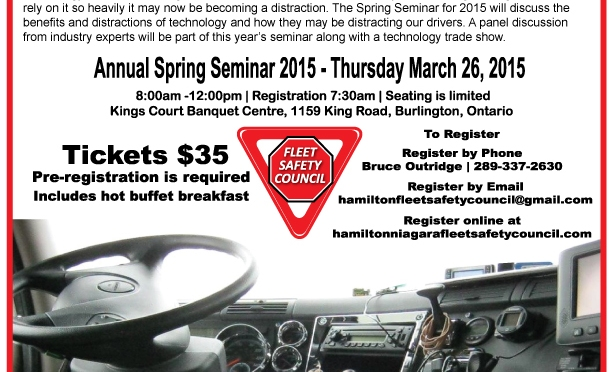 Seats are filling up for the Spring Seminar