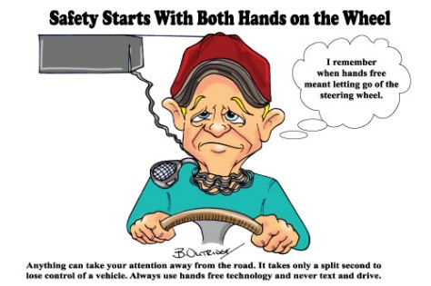 hands-free-Safety Poster
