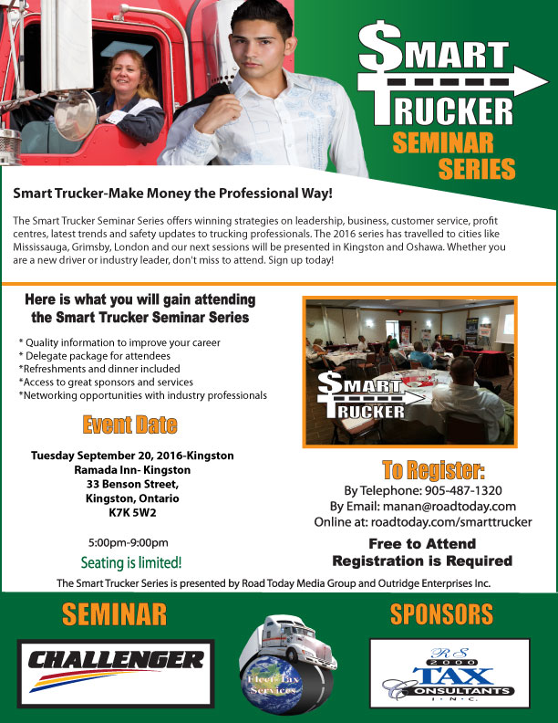 Smart Trucker Series goes to Kingston Ontario -September 20, 2016
