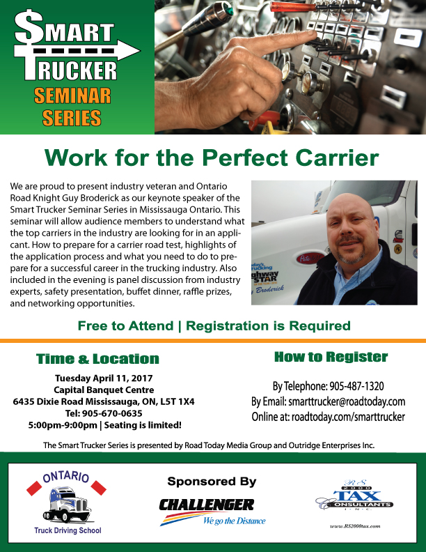 Smart Trucker Seminar in Mississauga-April 11th, 2017