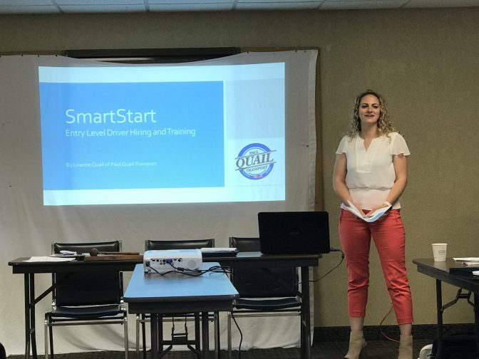 Leanne Quail talks Smart Start at May 2018 HFSC Meeting