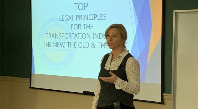 Jodi Burness Presents Legal Principles for Transport Companies at October Meeting